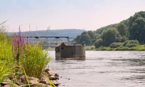 Dampferanleger Flotte Weser Grohnde